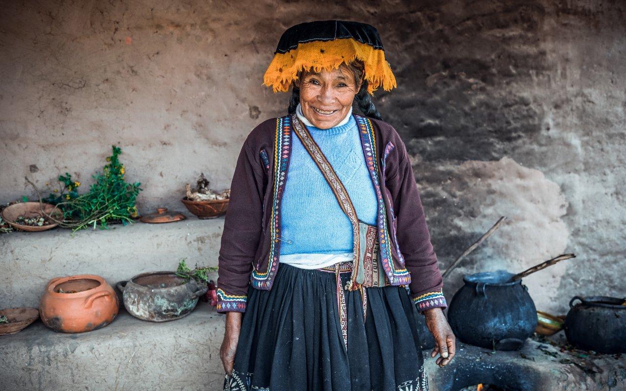 Femme du village de chinchero