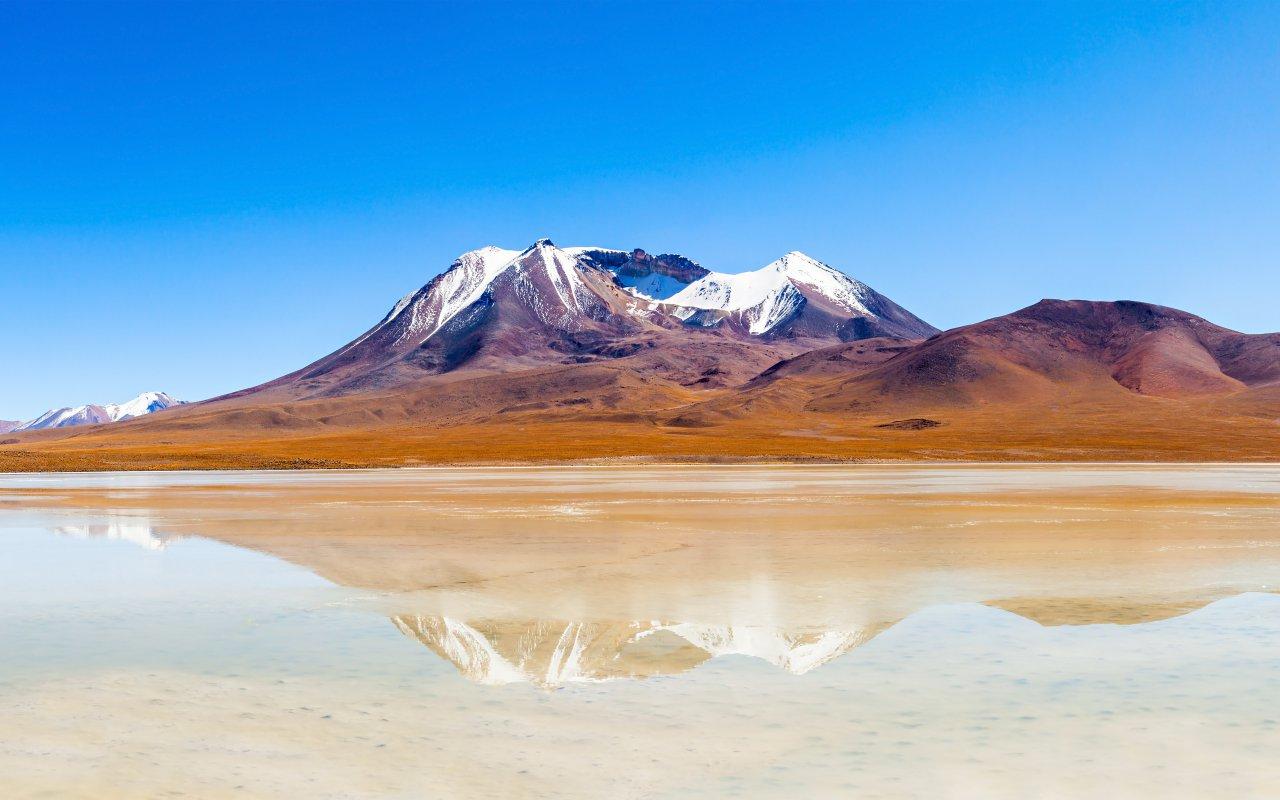 Lac dans l'Altiplano en Bolivie