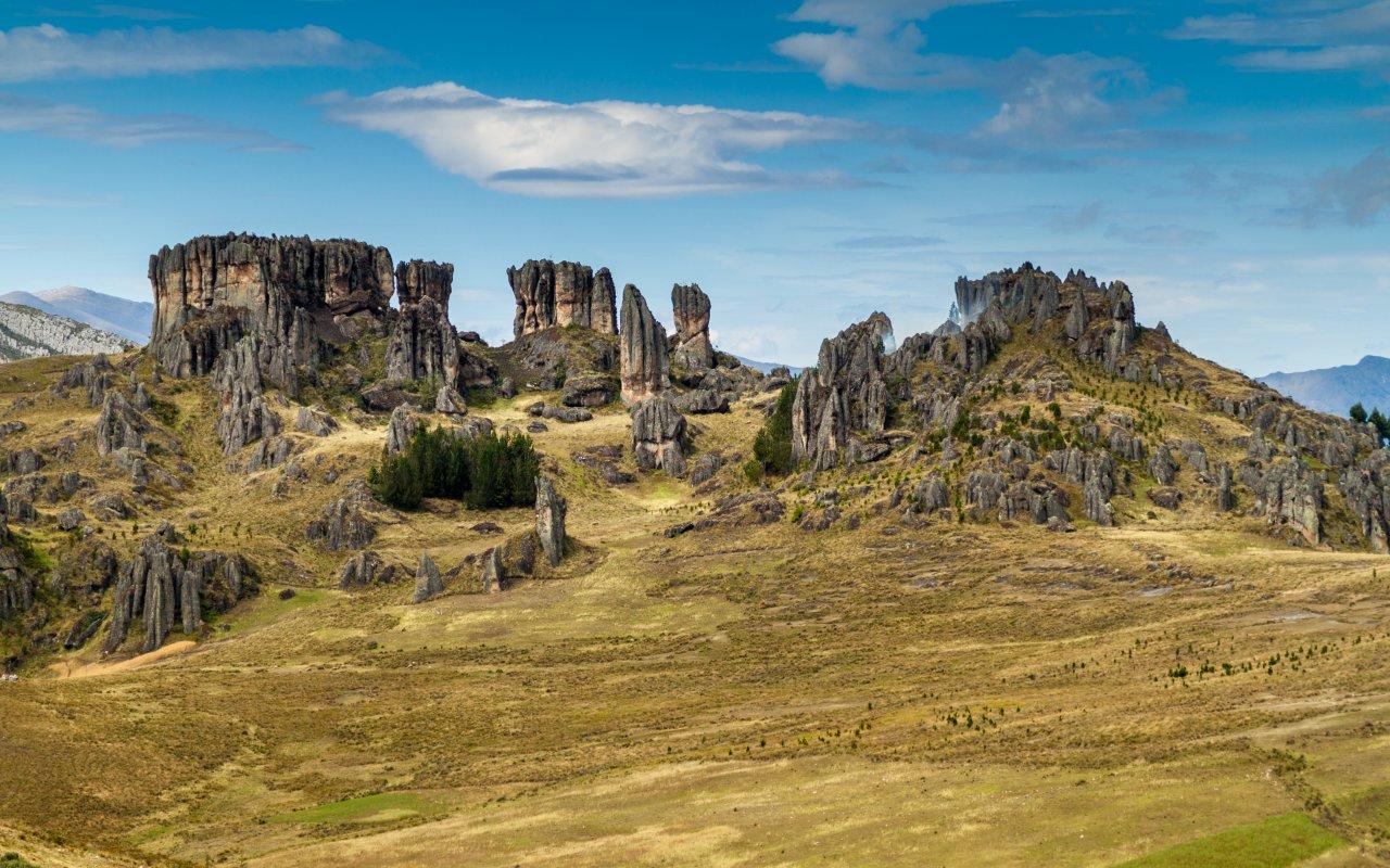 Los Frailones ,forêt de pierres a Cumbe Mayo, pres de Cajamarca