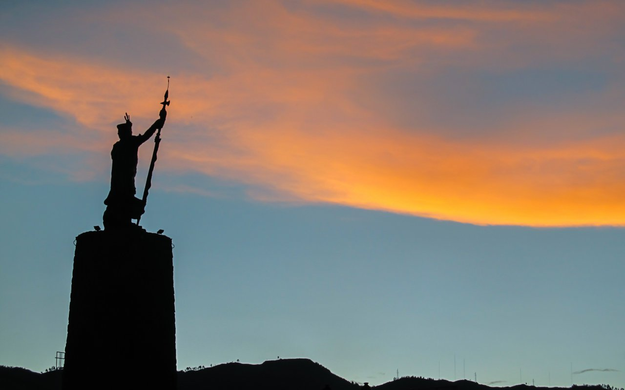 Statue de Tupac Amaru a Cusco au Pérou