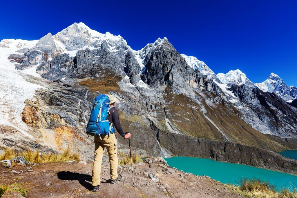 Trekkeur dans la région nord du Pérou