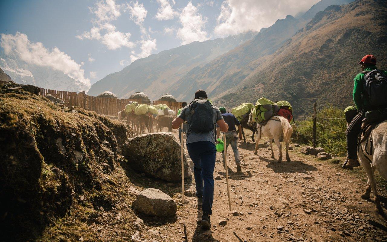 Trekkeur au Pérou