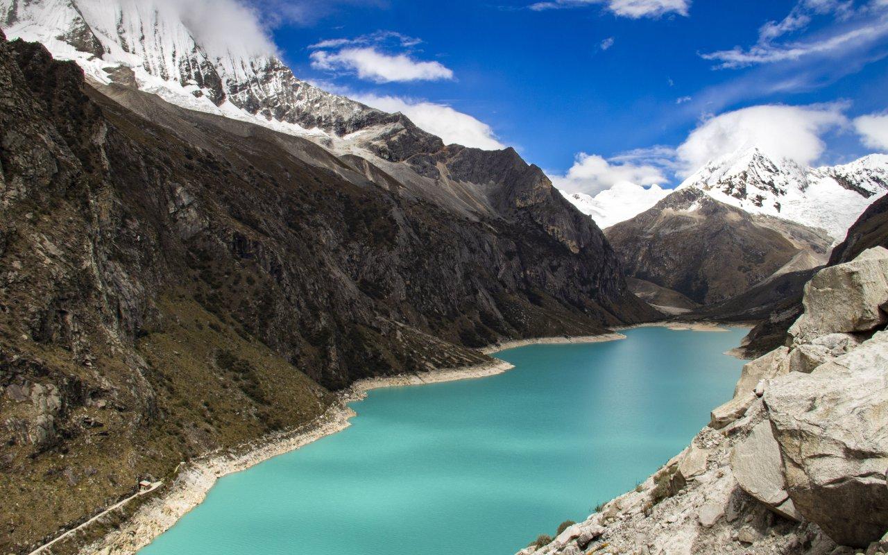 Lagune Paron à Huaraz au Pérou