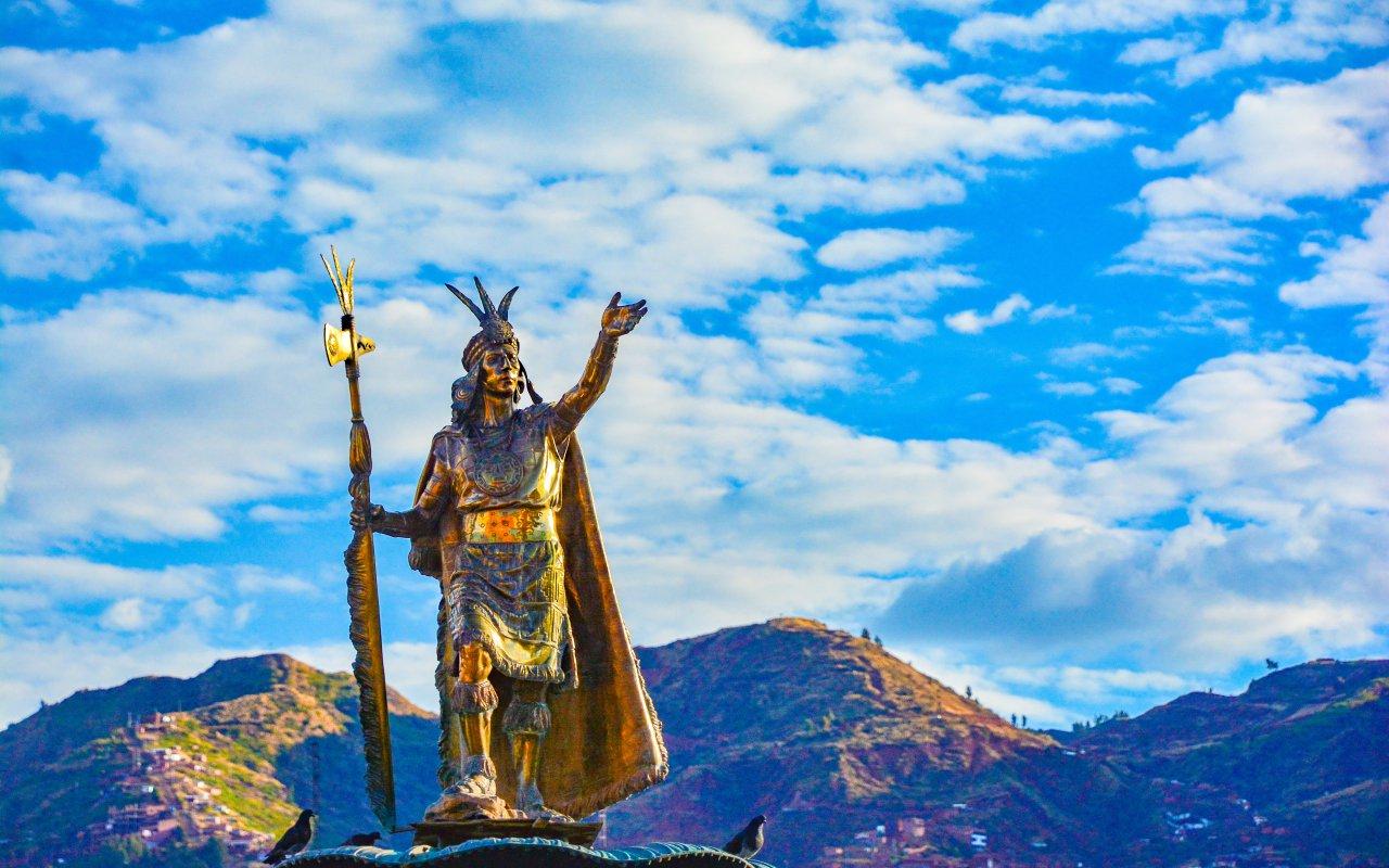 Statue inca au Pérou