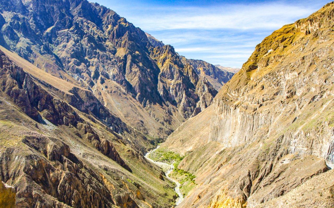 Canyon de Colca dans la région d'Arequipa au Pérou
