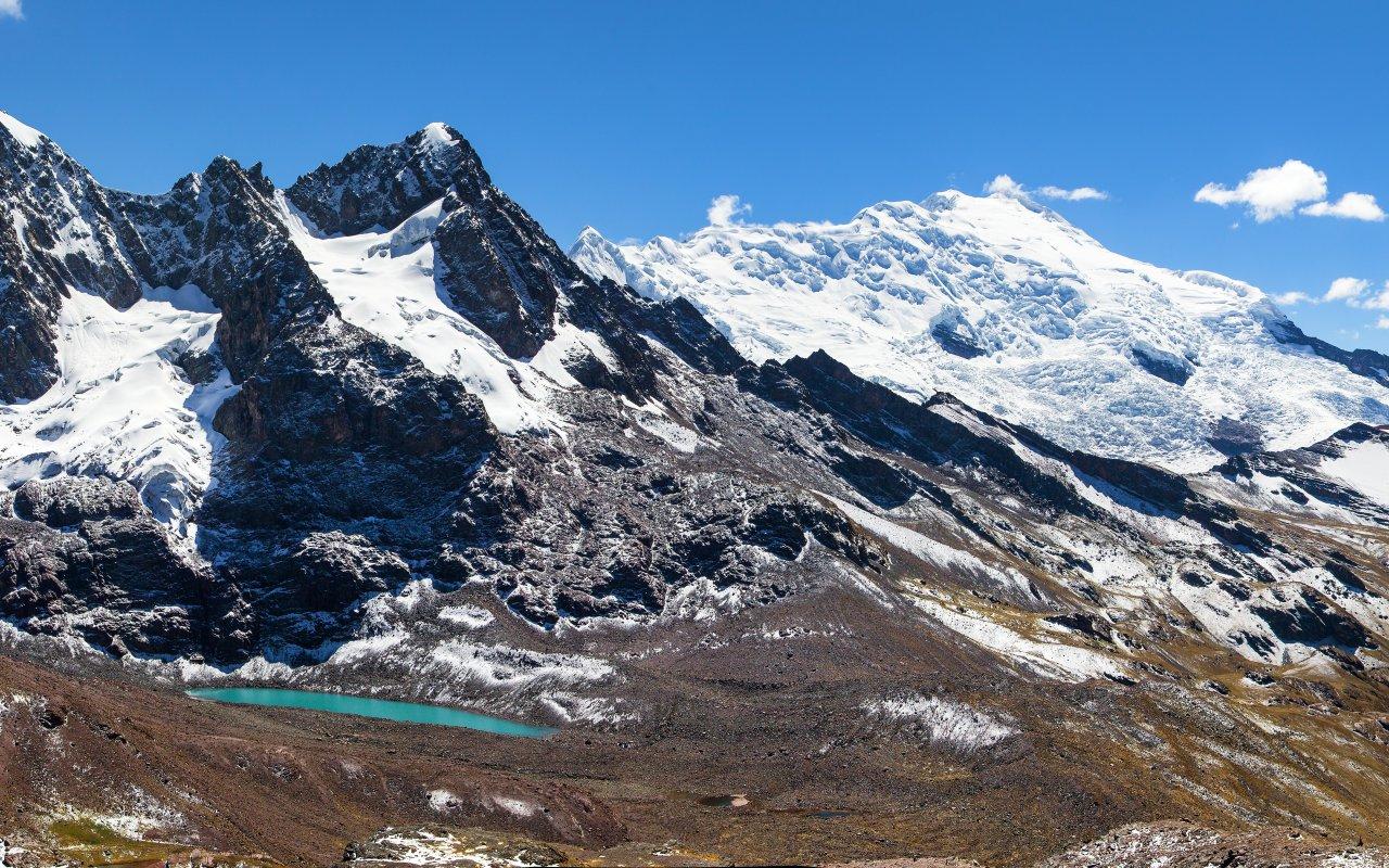 Paysage vue sur les Andes au Pérou