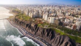 Vue aérienne de Lima