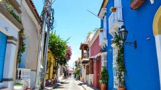 Rue colorée de carthagène