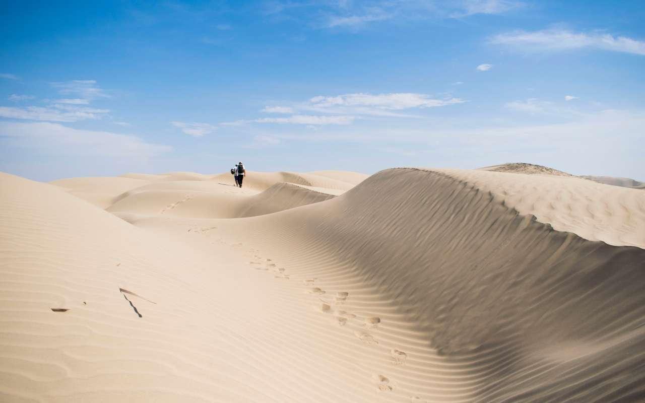 Randonnée dans les dunes de sable à Paracas