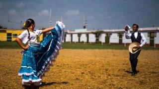 Cheval de paso marinera Trujillo danse Perou