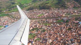 Vue aérienne de Cusco