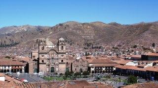 Places des armes a Cusco au Pérou