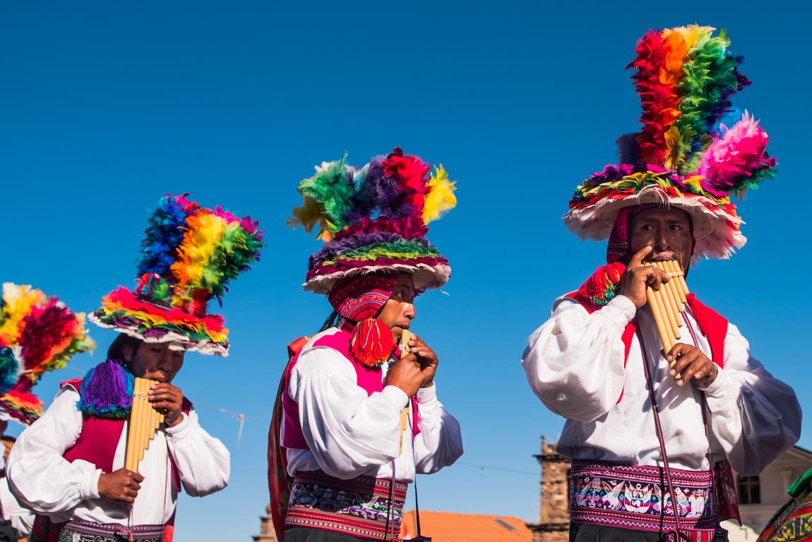 Danse traditionnelle dans les Andes péruvienne