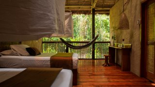Posada Amazonas Rooms open to the forest