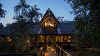 Extérieur du lodge Refugio Amazonas