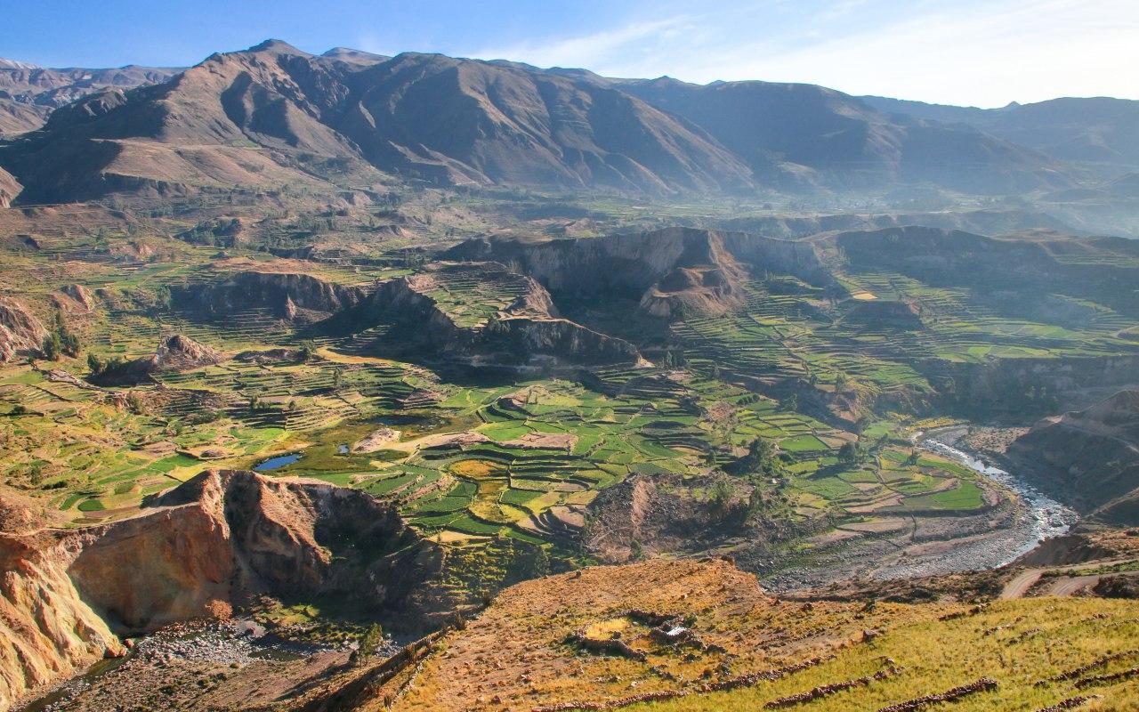 Vallée du Colca dans l'Altiplano