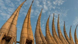 Bateaux en roseaux Huanchaco