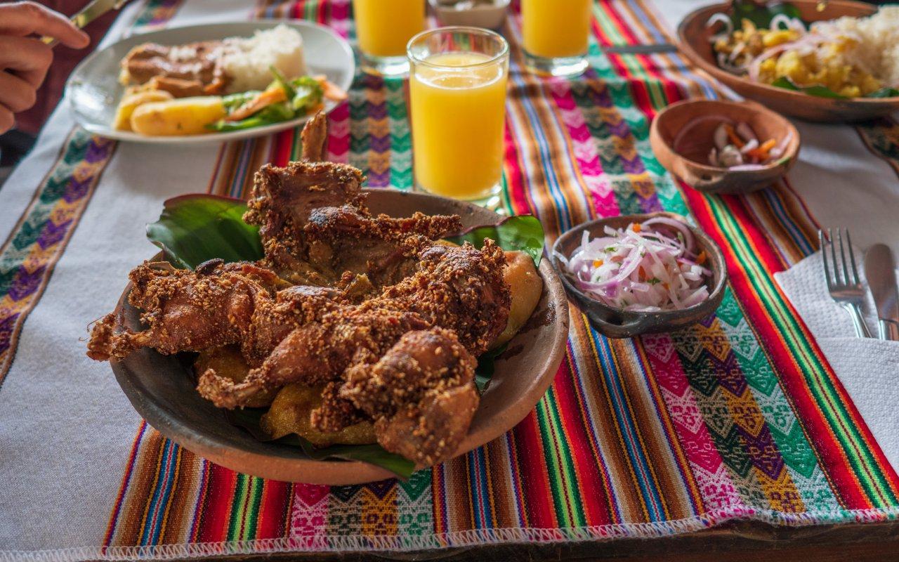 Repas picanteria Arequipa - Cuy cochon d'inde