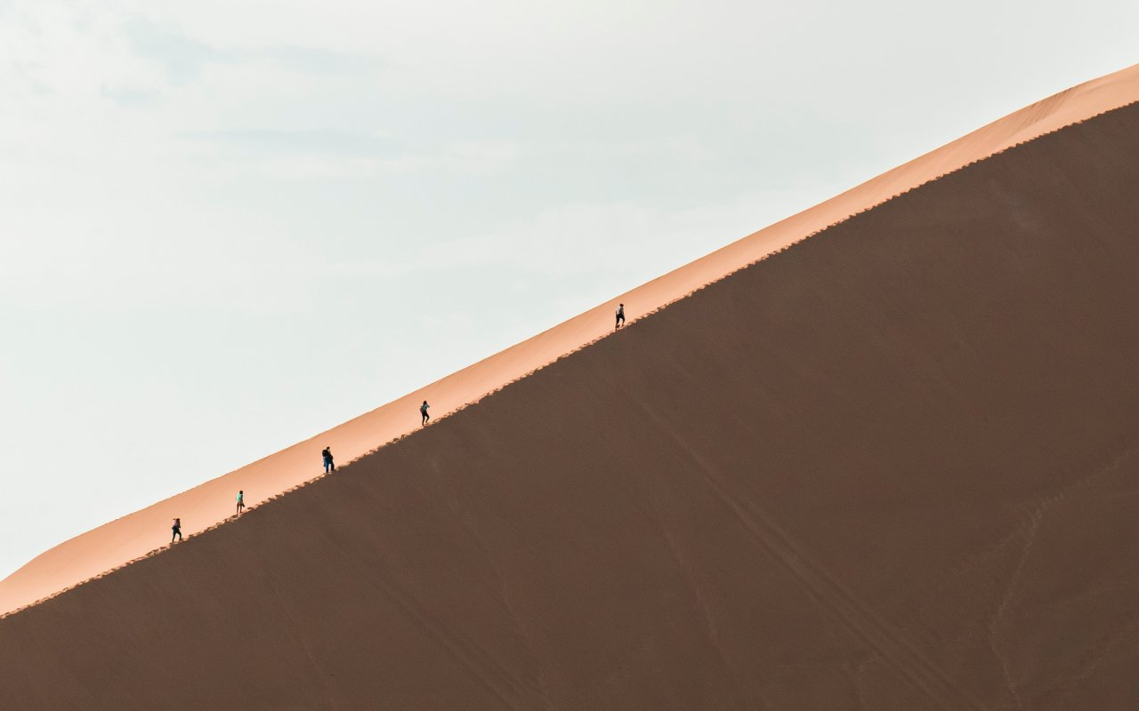 Dune de sable a Ica, Pérou